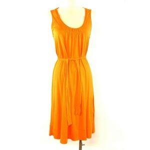 New J.Crew Dressy Jersey Belted Dress Orange